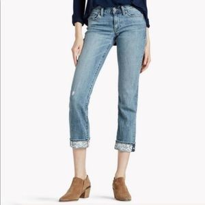 Lucky Brand Sweet Crop w/ embroidery Jean- 6/28